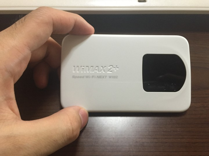 WiMAX2+のモバイルWi-Fiルーター「WX02」