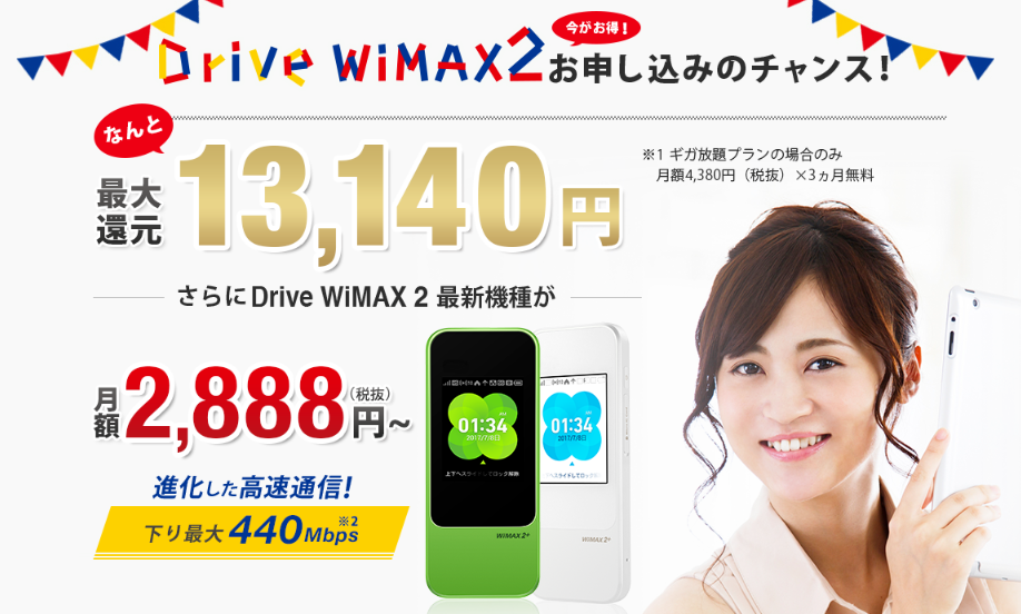 Drive WiMAXのキャンペーン概要